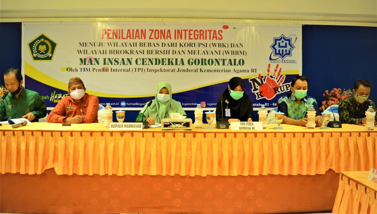Zona Integritas MAN IC Gorontalo Masuki Tahap Penilaian TPI
