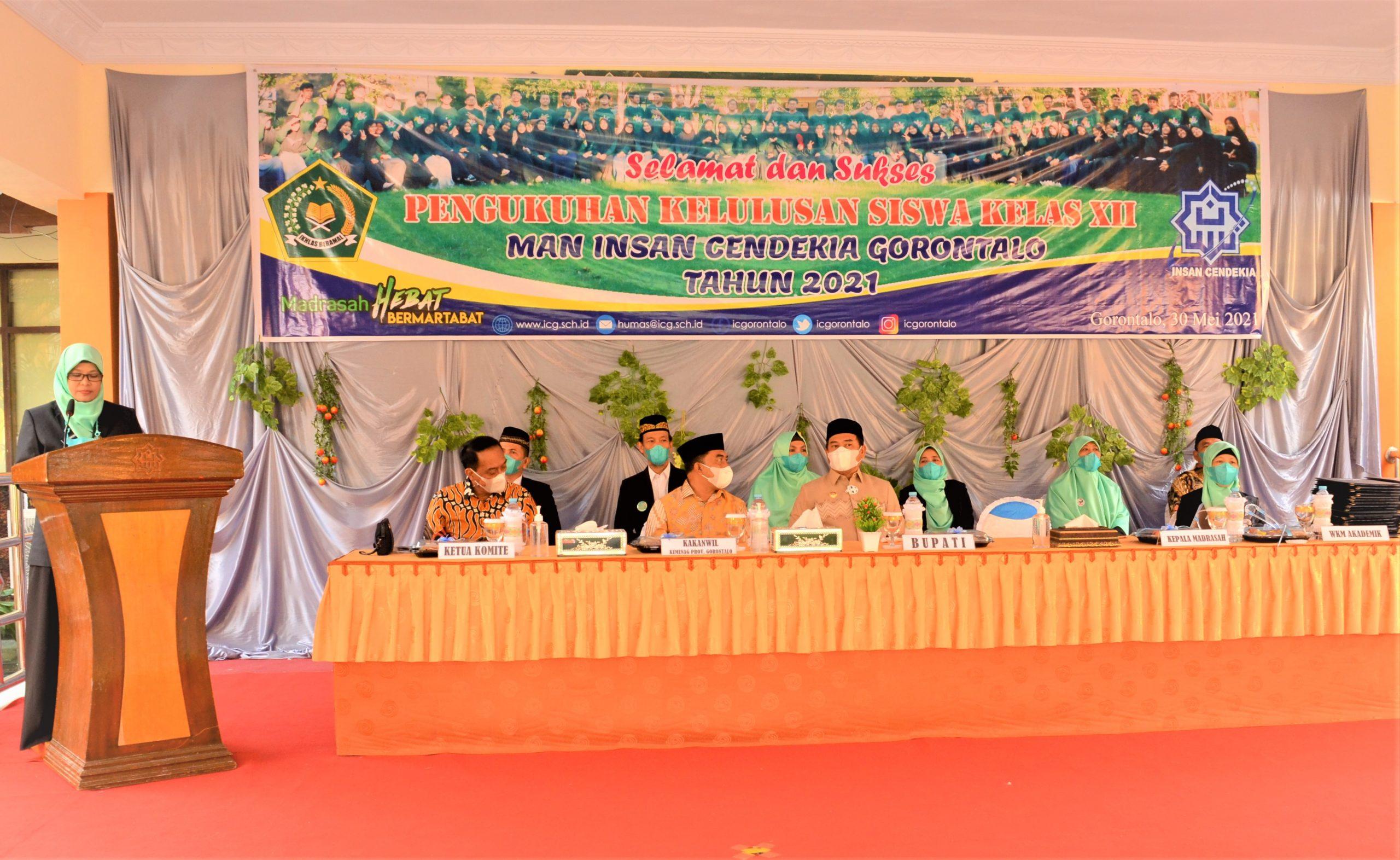 Wisuda Angkatan 22 MAN IC Gorontalo, Direktur KSKK Beri Amanat